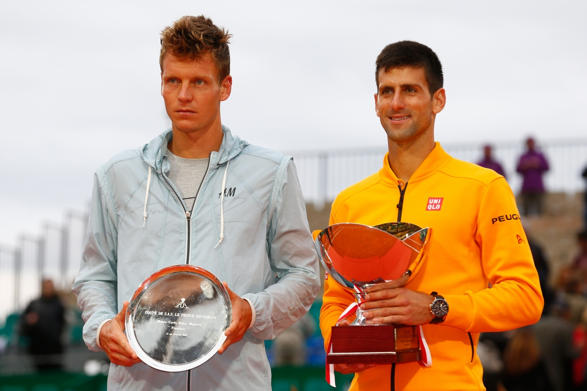 Novak Djokovic and Tomas Berdych