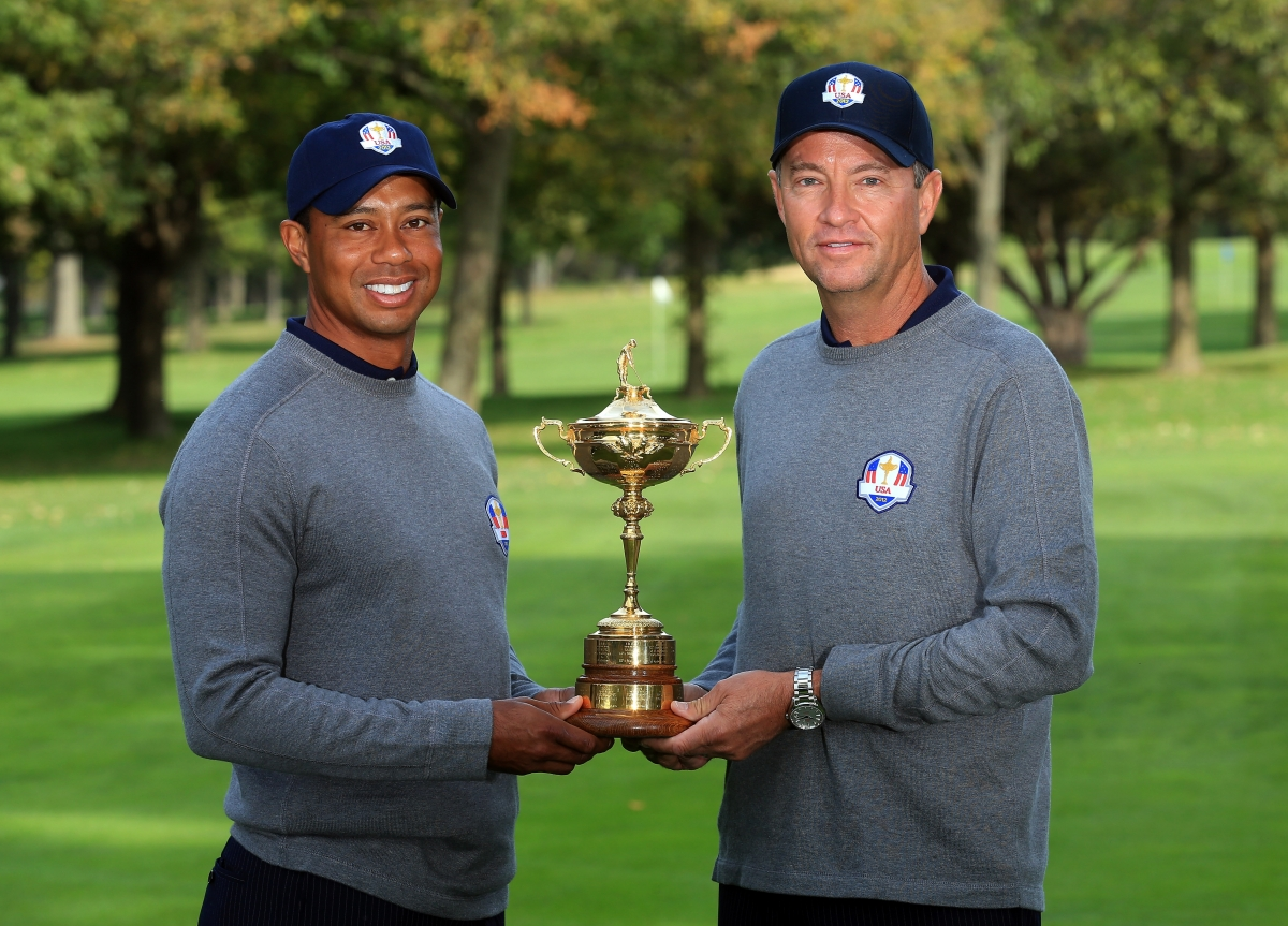 Tiger Woods and Davis Love III