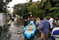 Rescue boats in Chennai