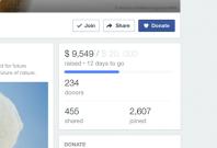 Facebook donate button