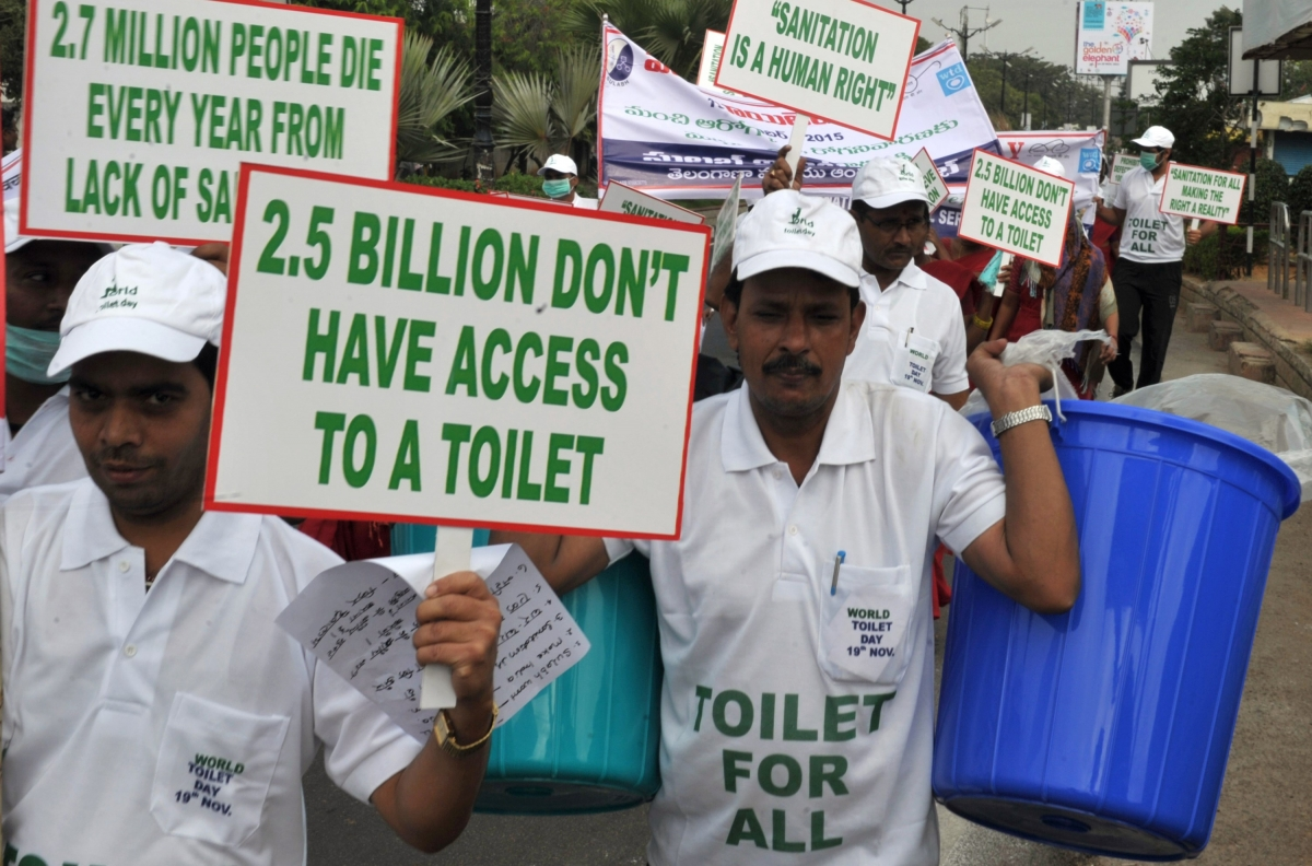 World Toilet Day rally
