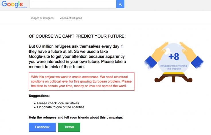 Fake Google website