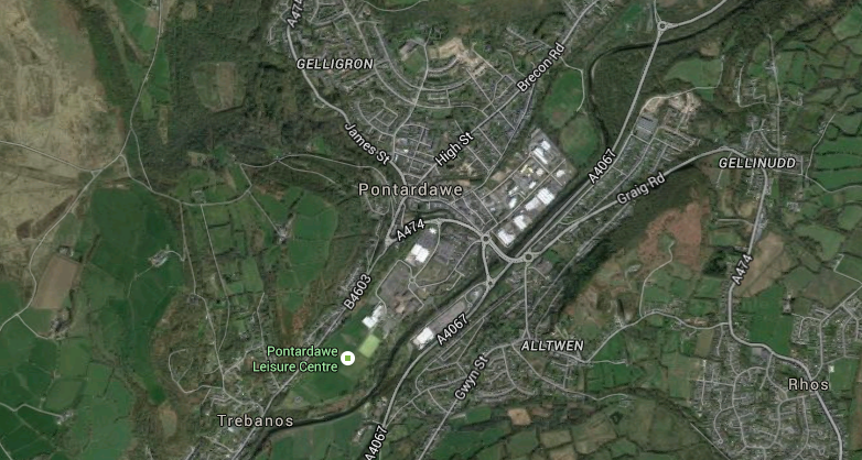 pontardawe google map