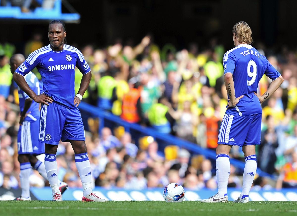 Didier Drogba and Fernando Torres