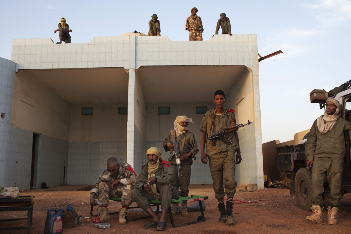 Tuareg soldiers in Mali