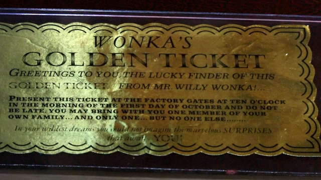 Golden ticket from Willy Wonka