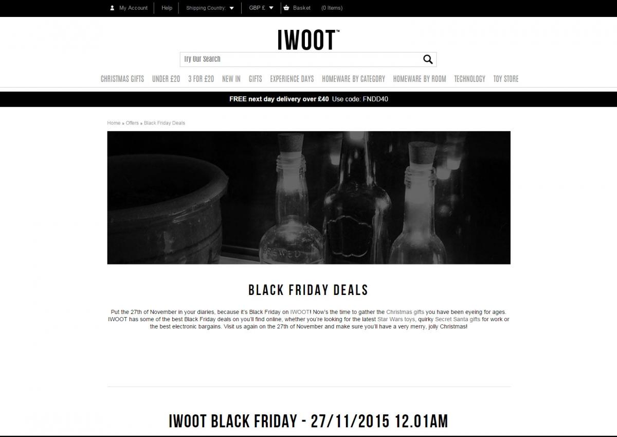 I Want One of Those Black Friday