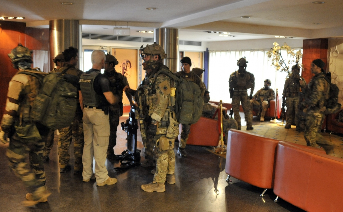 Special forces inside the Radisson Blu