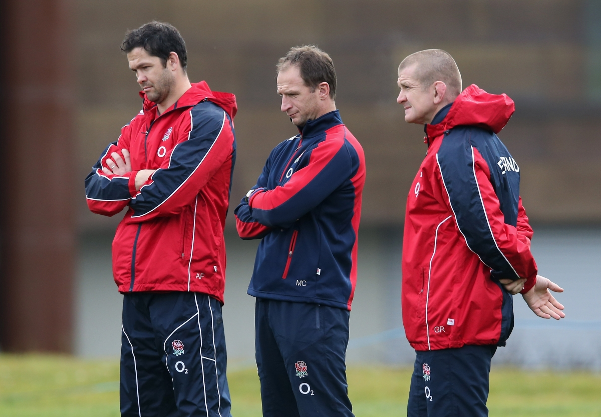 Graeme Rowntree, Andy Farrell and Mike Catt