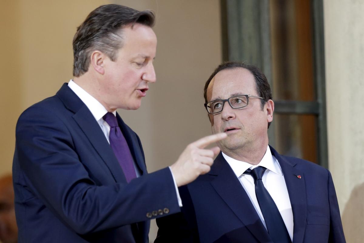 David Cameron meets Francois Hollande