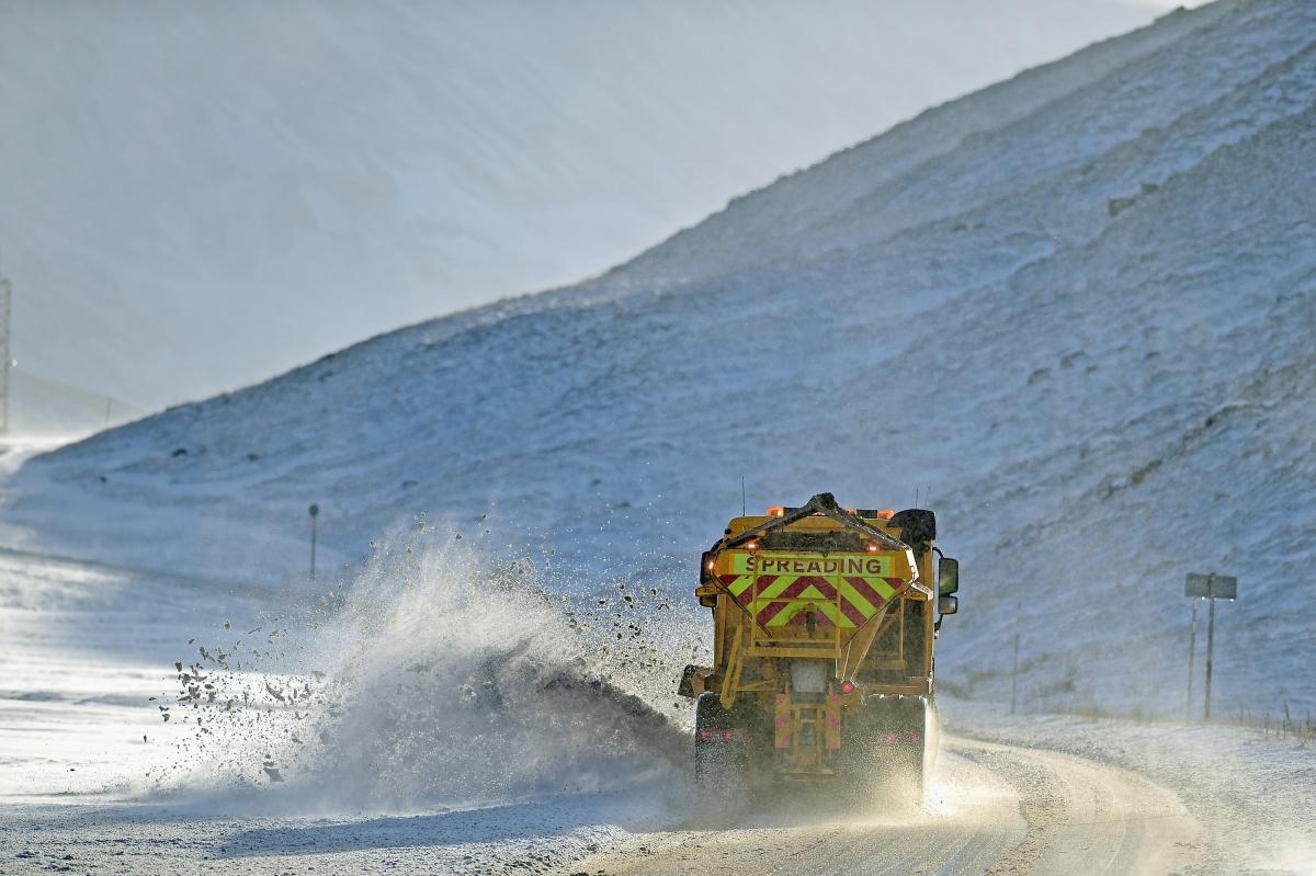 Snow has fallen in the UK