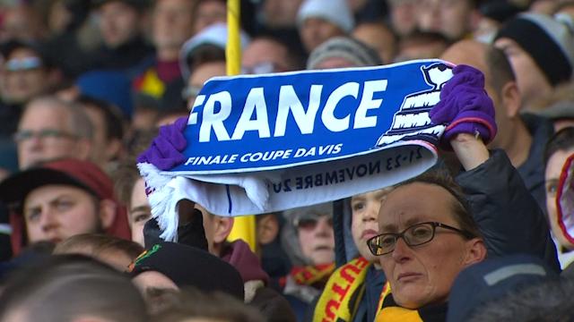Fans show respect for France