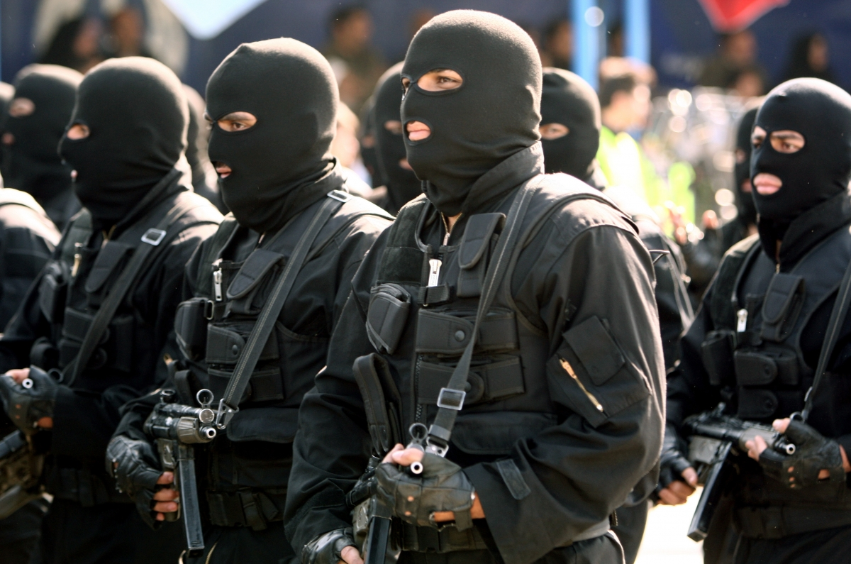 Iranian special forces on parade