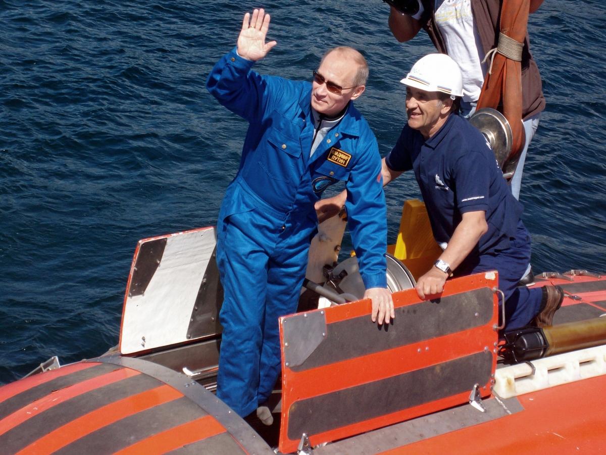 Putin in a submarine