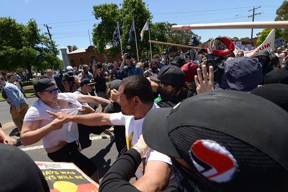 Anti-Islam and anti-racism rallies turn violent