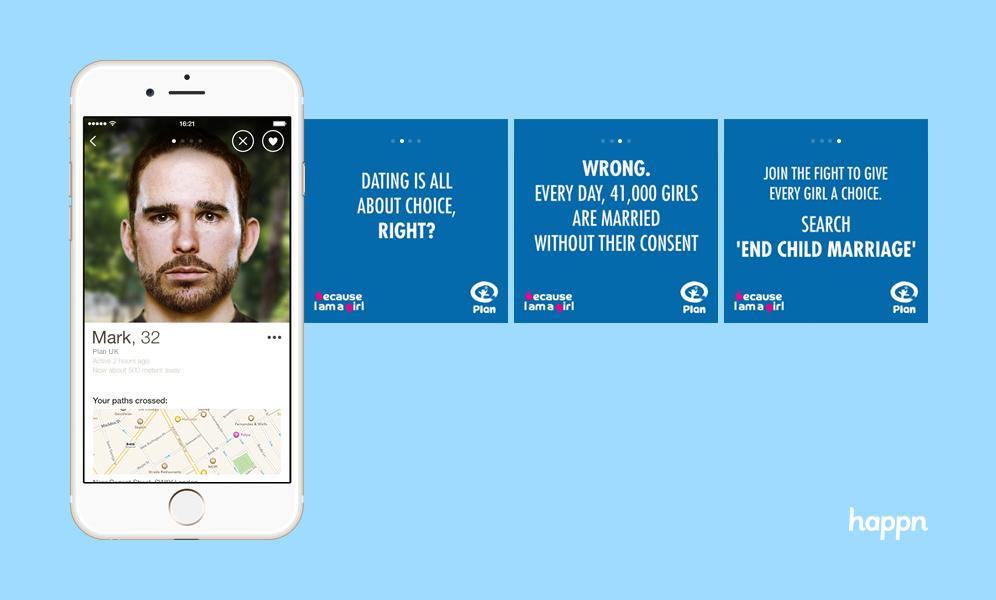 Happn app child marriage campaign
