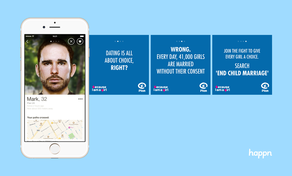 Happn app child marriage campaign