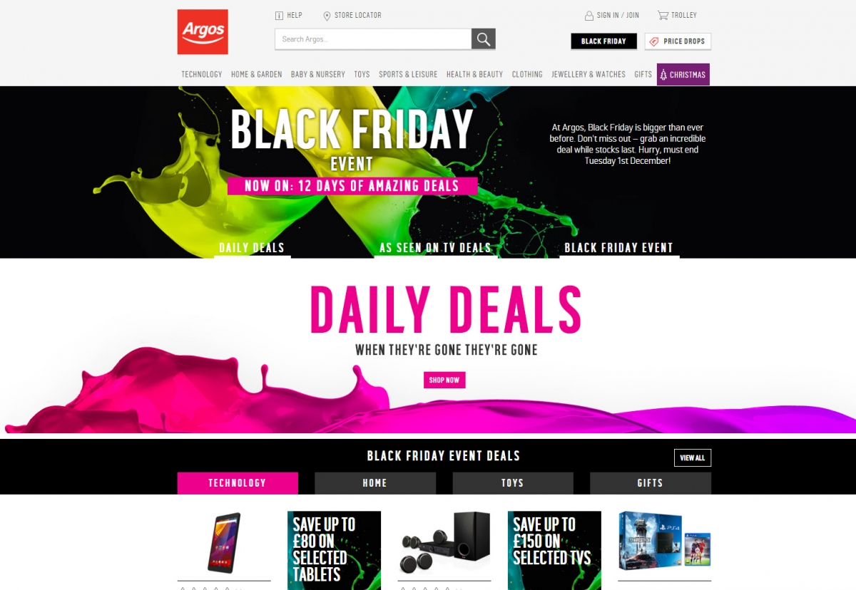 Argos 12 Days of Deals Black Friday