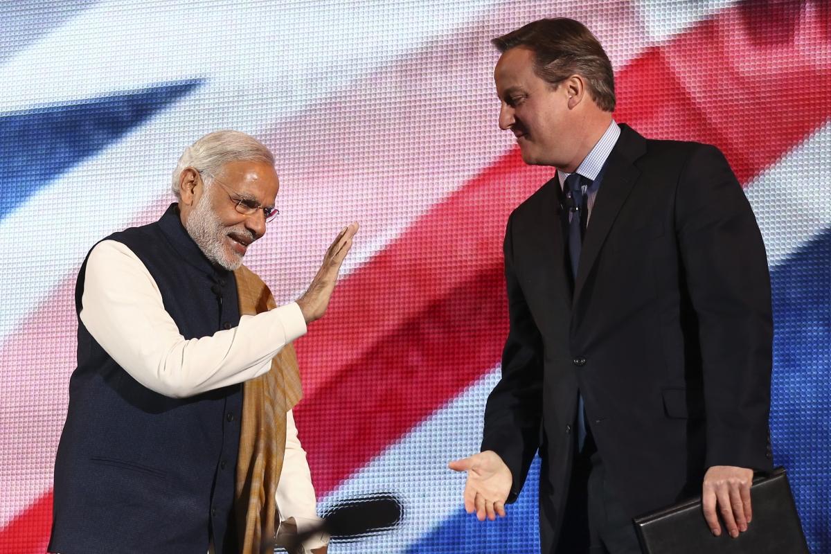 Narendra Modi and David Cameron