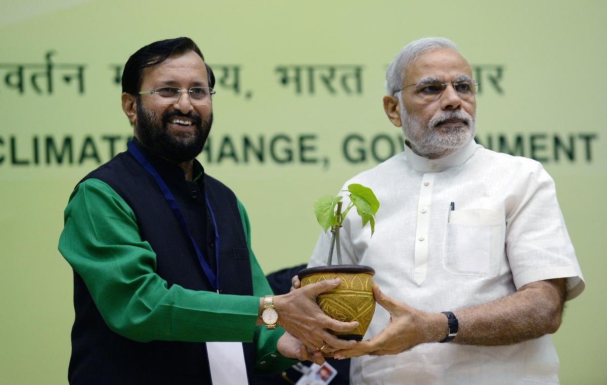 Prakash Javadekar and Narendra Modi