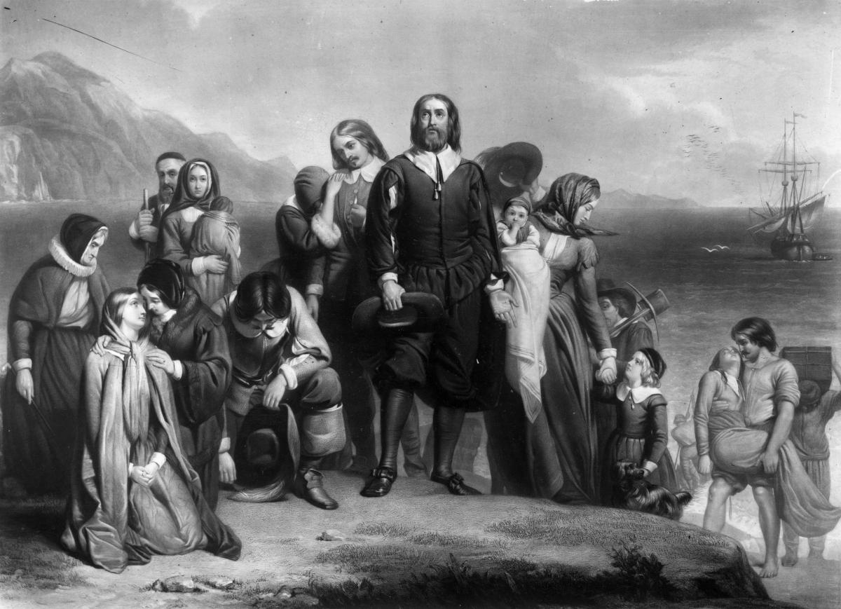 Thanksgiving Pilgrims New England Mayflower