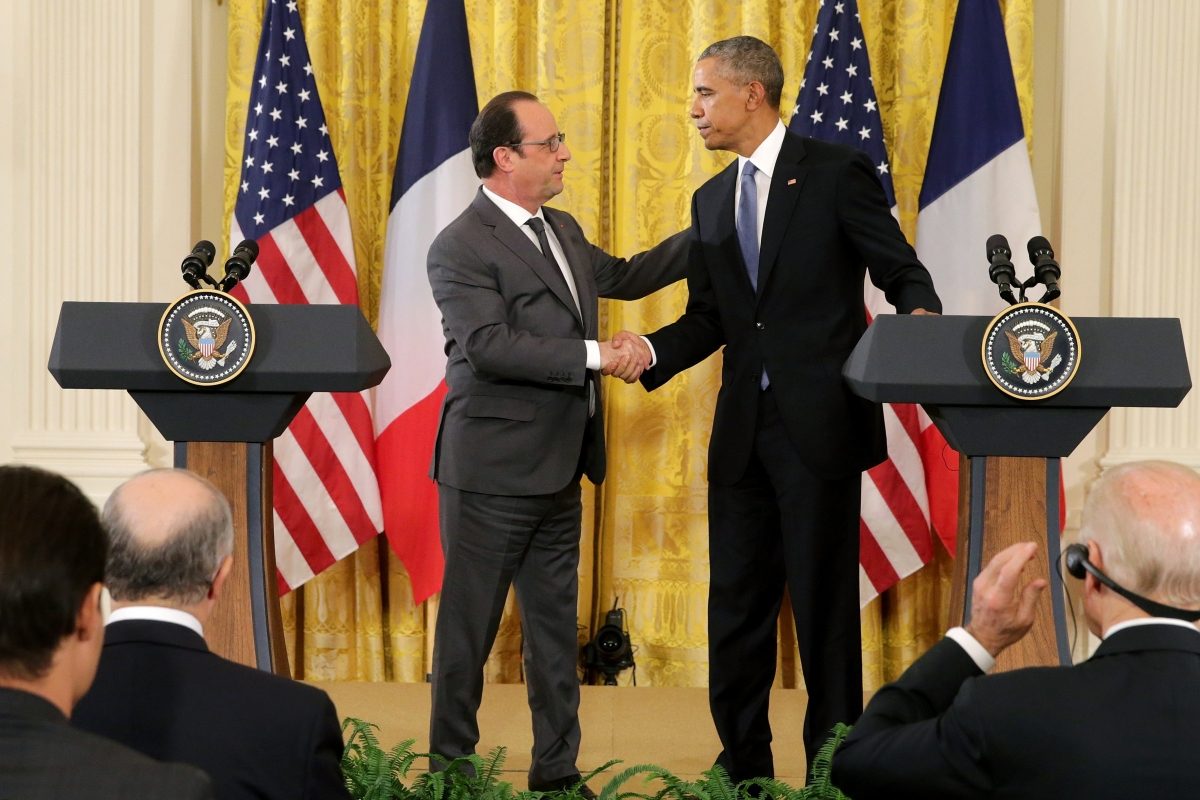 Barack Obama and Francois Hollande