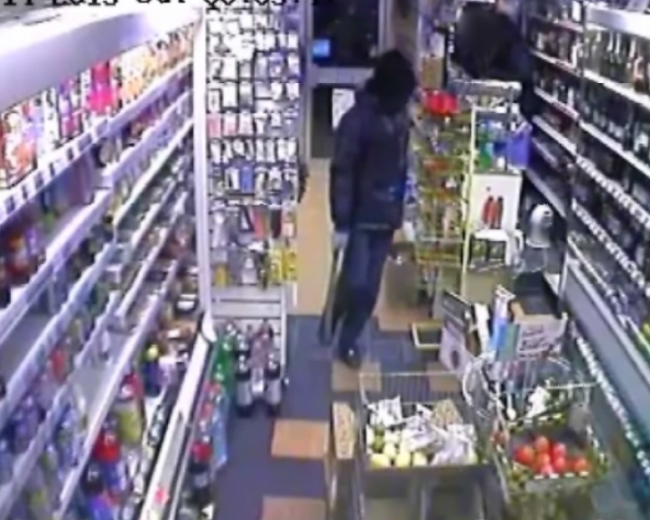 Armed robbery with machete and sword