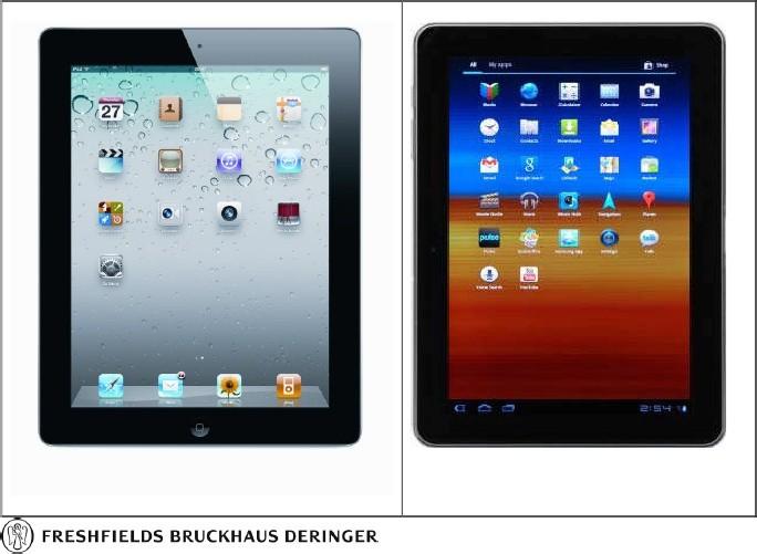 Apple iPad 2, Samsung Galaxy Tab 10.1