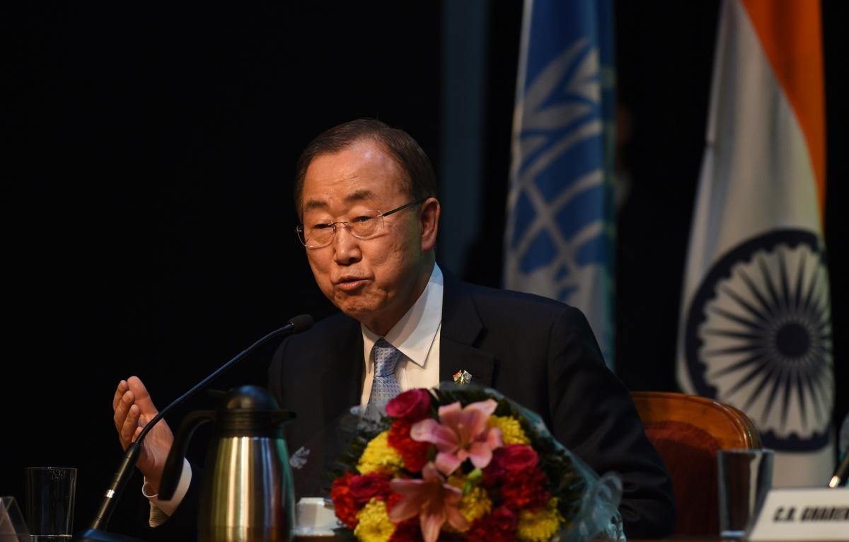 Ban Ki-Moon in India