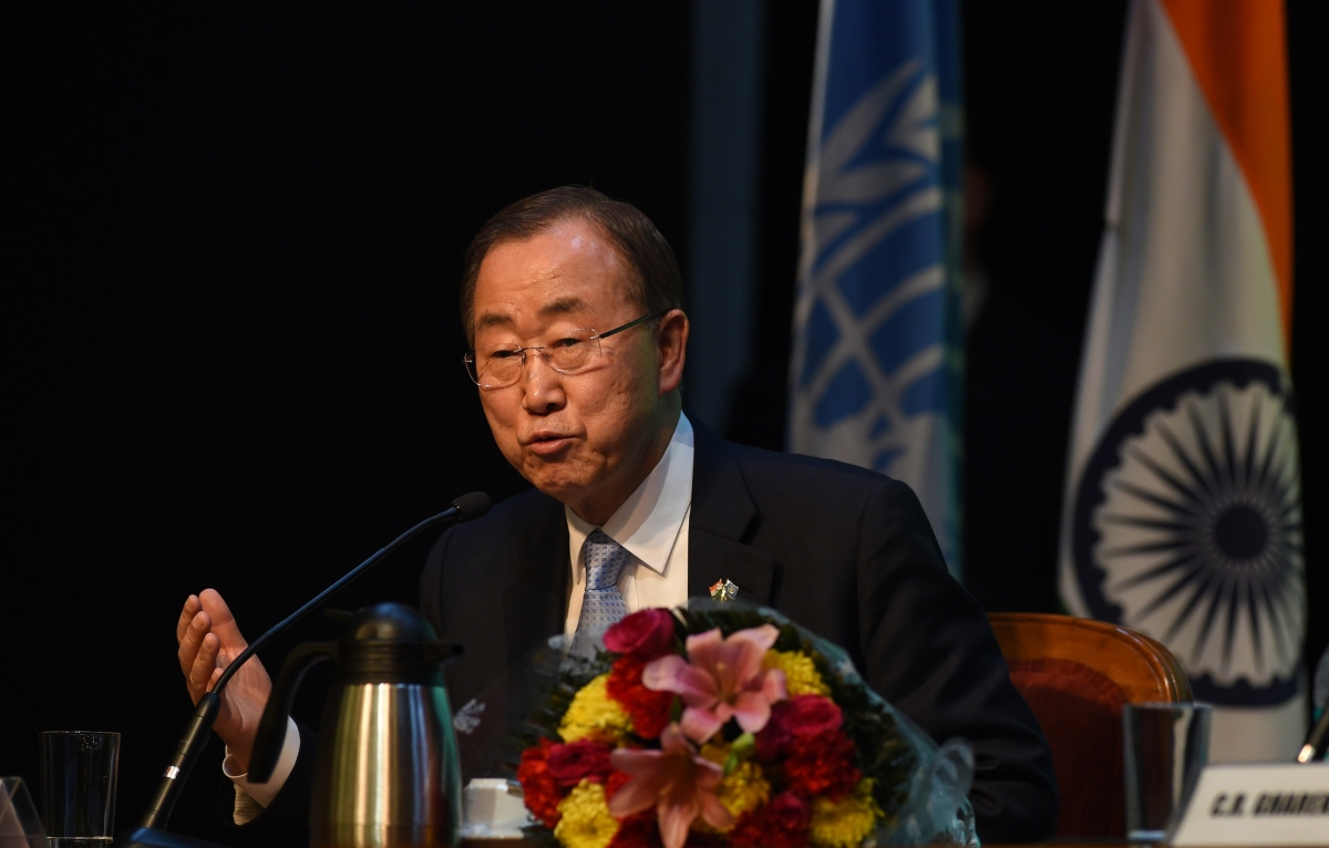 Ban Ki-Moon in India