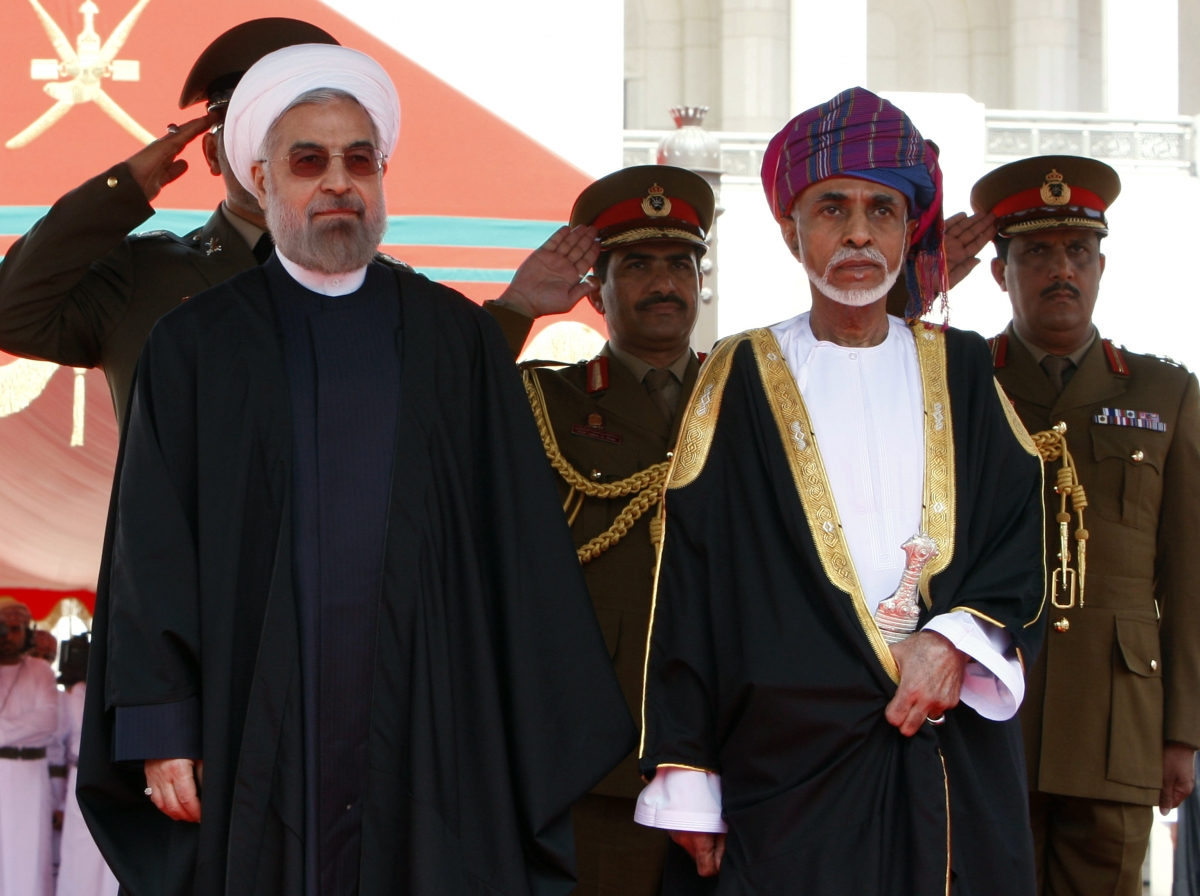 sultan qaboos with hassan rouhani