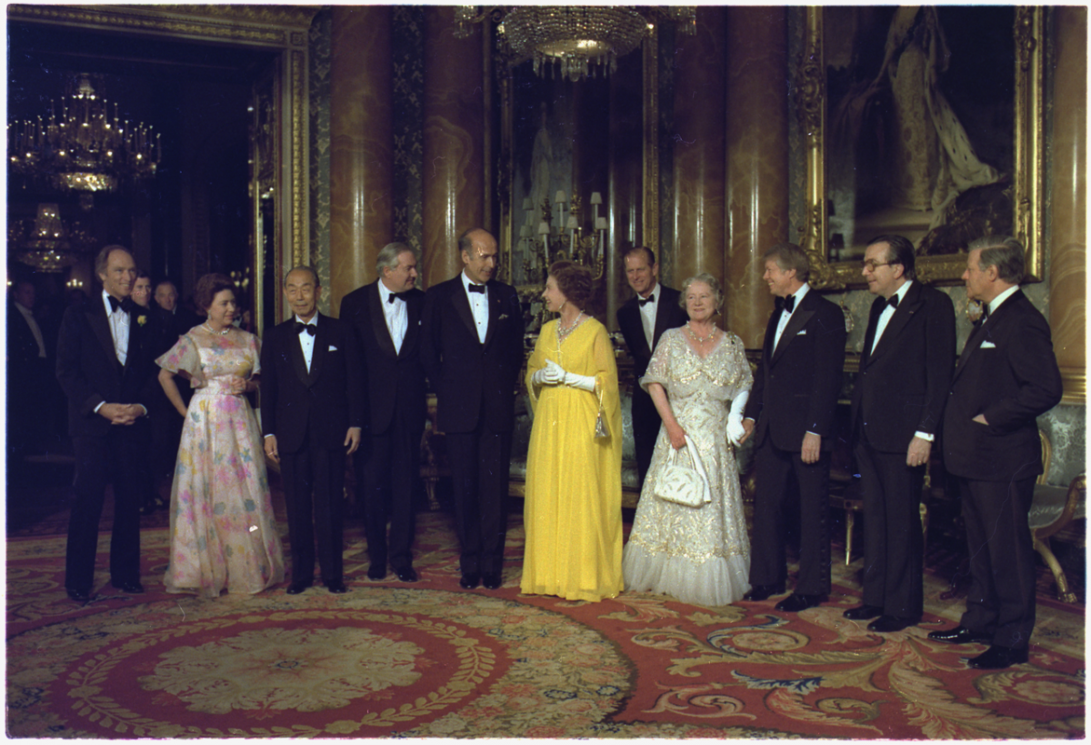 National leaders and royalty in London, 1977