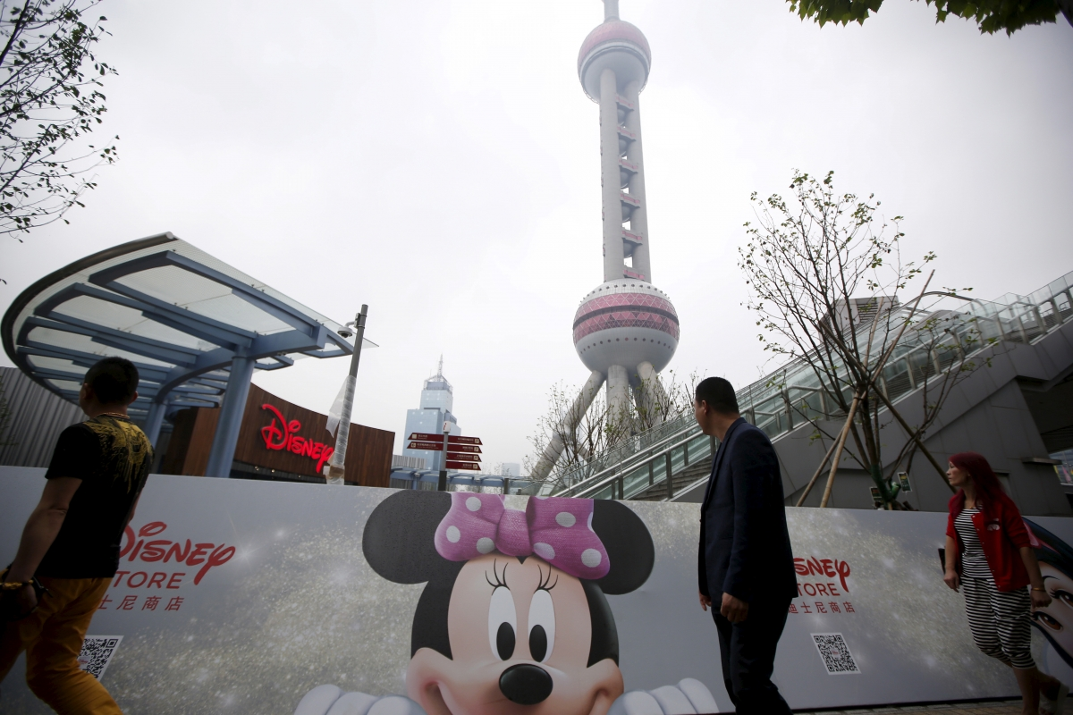 People at China's first Disney