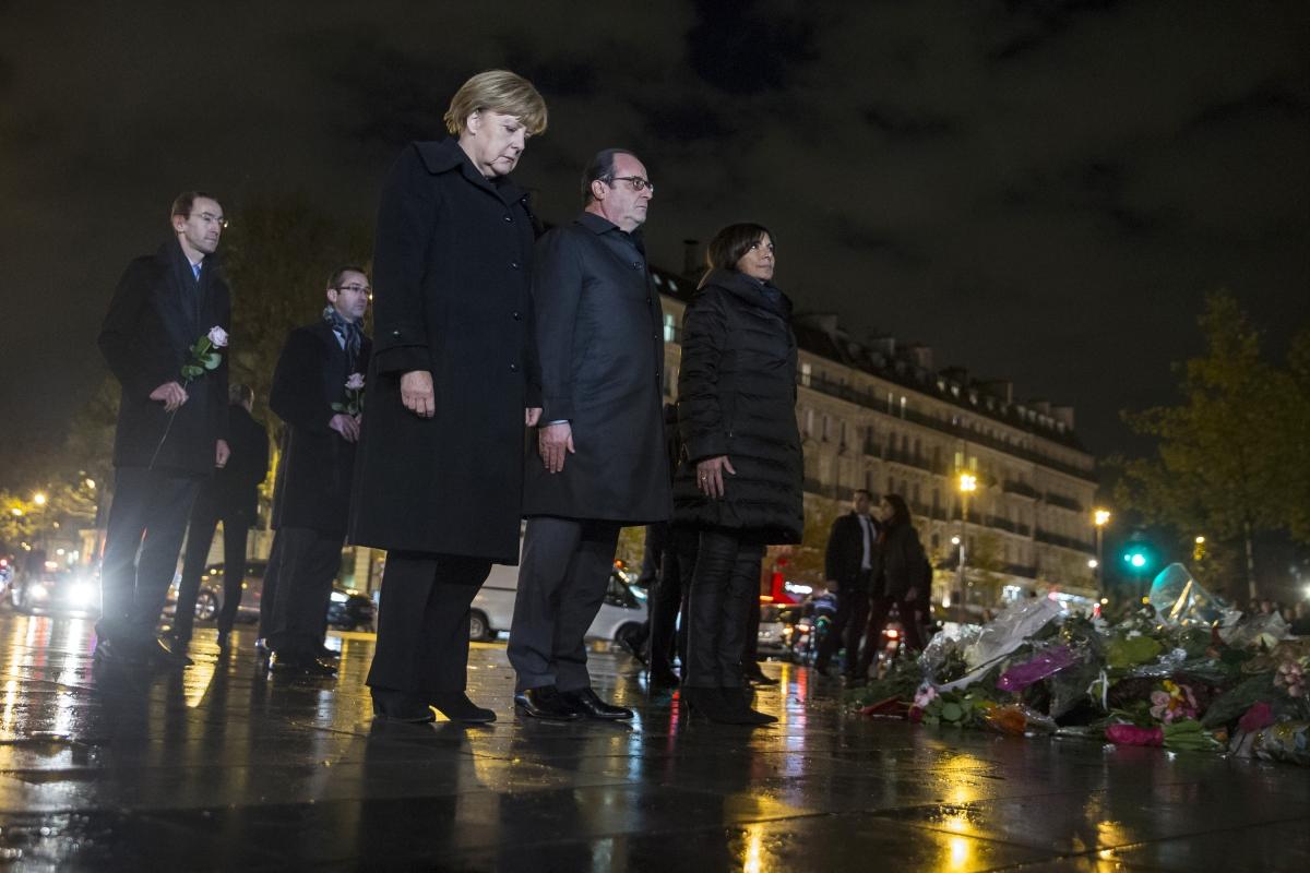 Holland Merkel in Paris