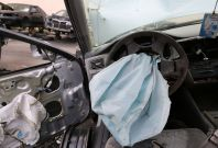 Takata airbag in Toyota car
