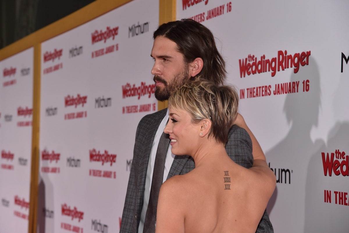 Big Bang Theory Actress Kaley Cuoco Covers Wedding Date Tattoo With