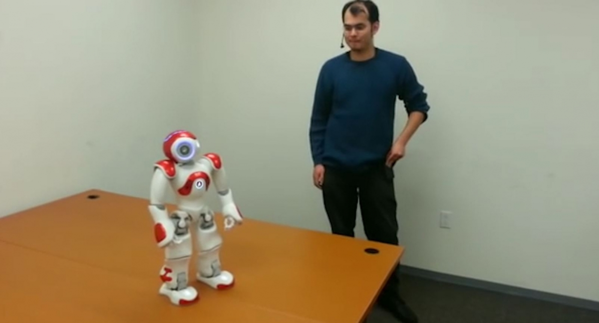 Self-aware robot learns to say no in the face of danger