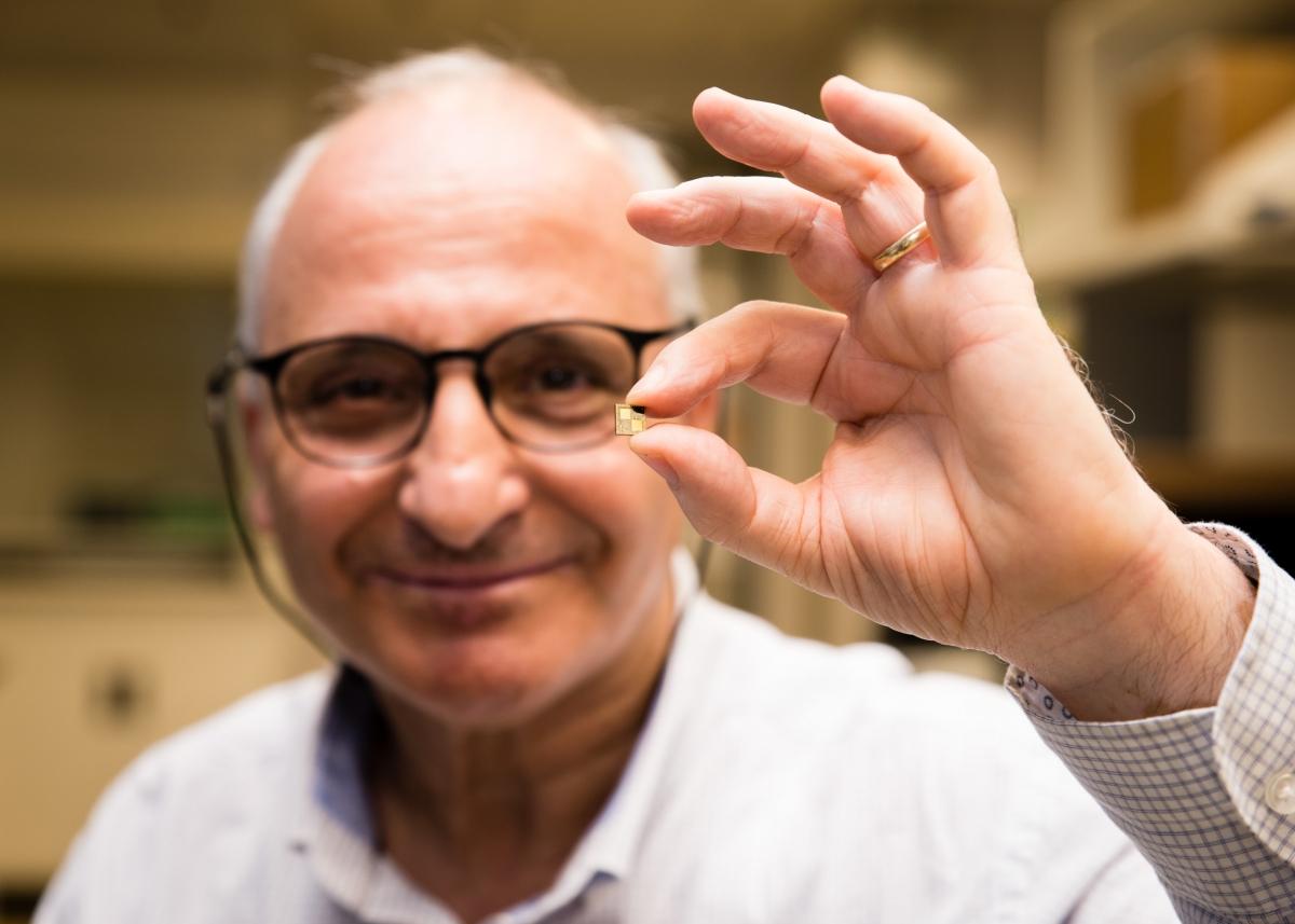 Professor Rachid Yazami and his smart chip