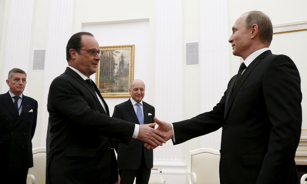 Hollande Putin Syria Isis Daesh