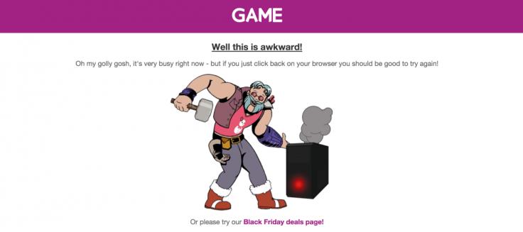 Game Black Friday website crash