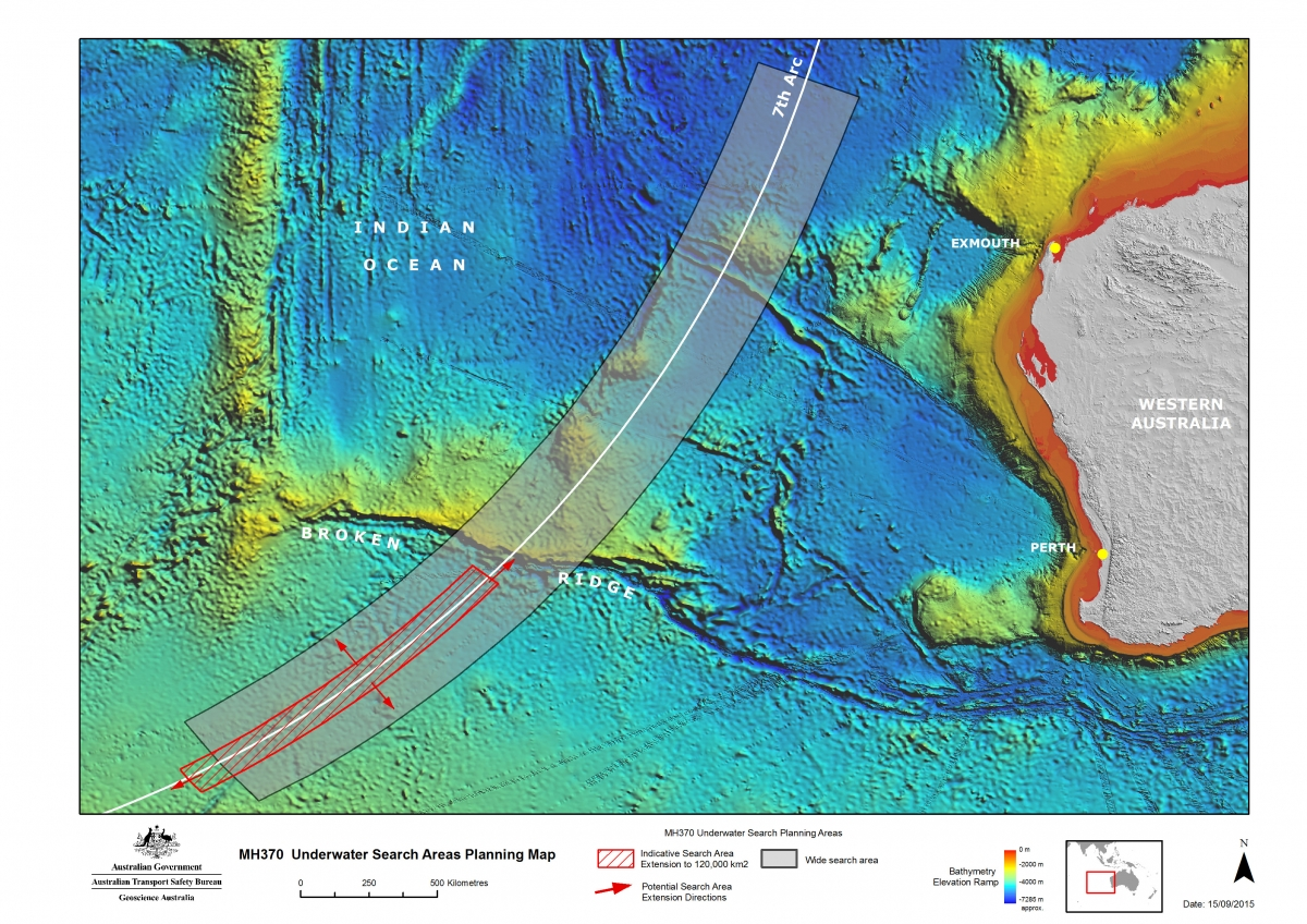 MH370 search map