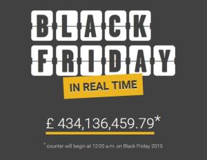 Black Friday live spending counter