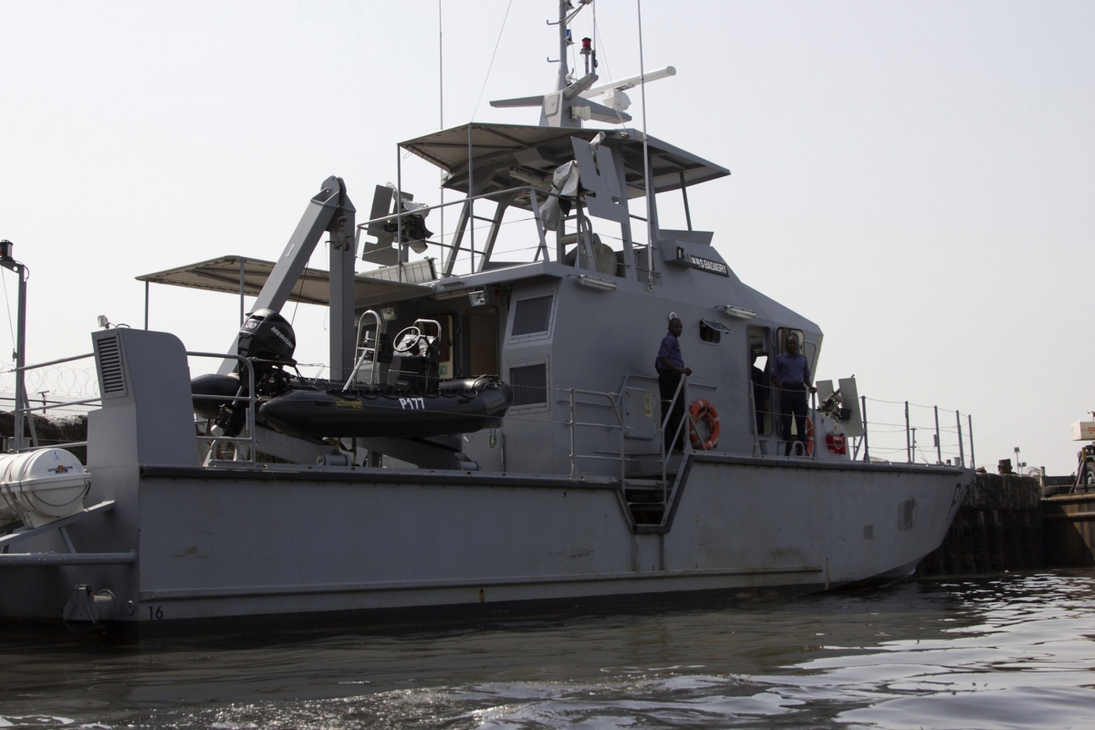 A Nigerian naval boat