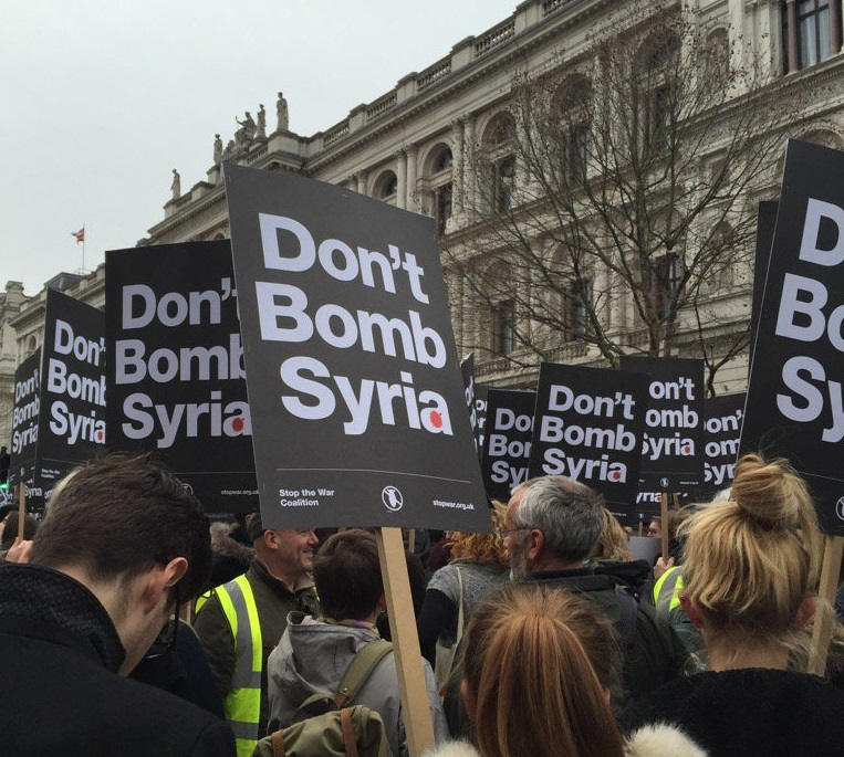 Protesters at Downing Street