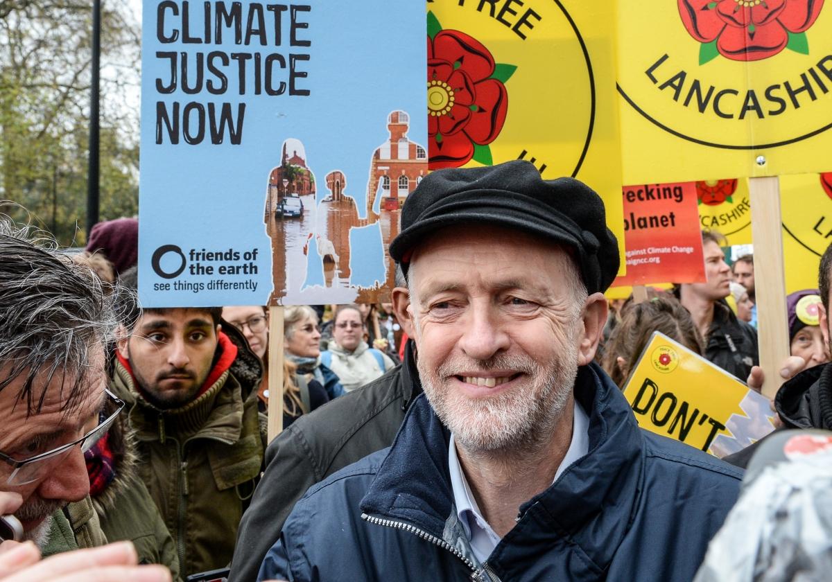 Jeremy Corbyn at London Climate March