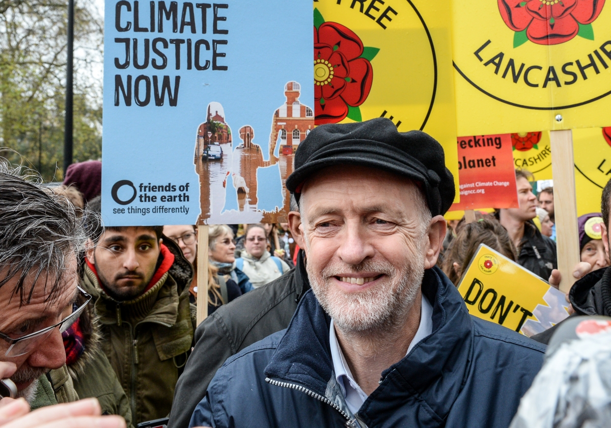 Jeremy Corbyn at London Climate March