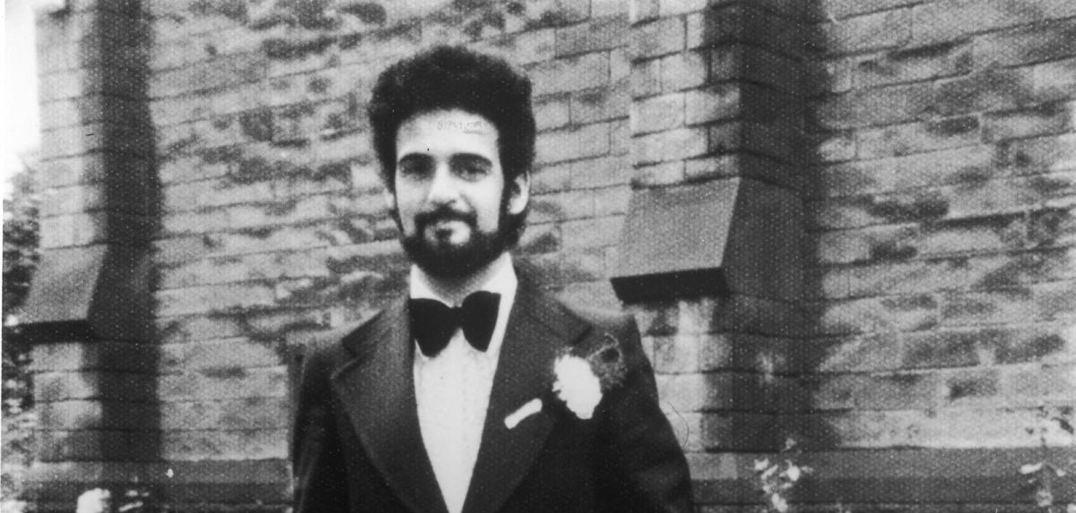 Yorkshire Ripper Peter Sutcliffe wedding day portrait