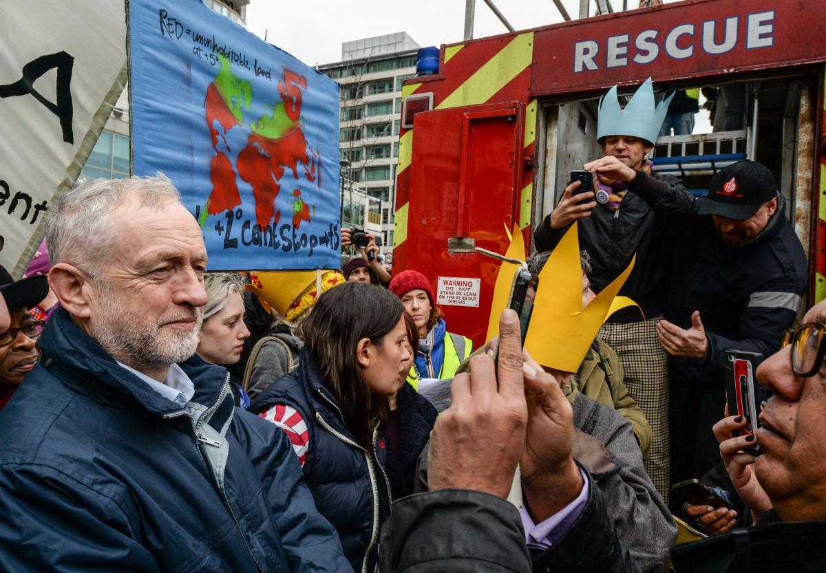 jeremy corbyn climate march