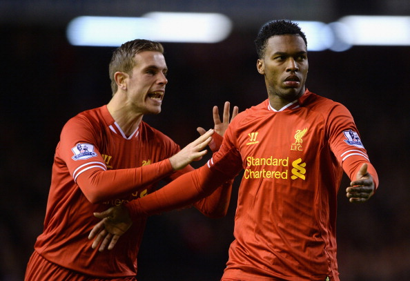 Jordan Henderson and Daniel Sturridge