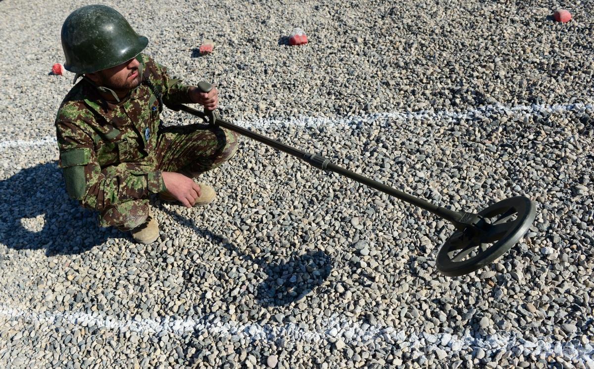 Checking for landmines